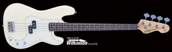 VINTAGE V4VW Reissued Bass Guitar - Vintage White - New